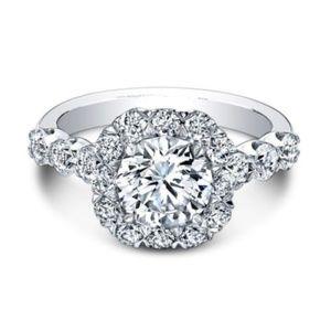 925 Silver Round Cut White Sapphire Size 9